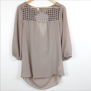 Maurices Studio Y Cage Blouse 3/4 Sleeves